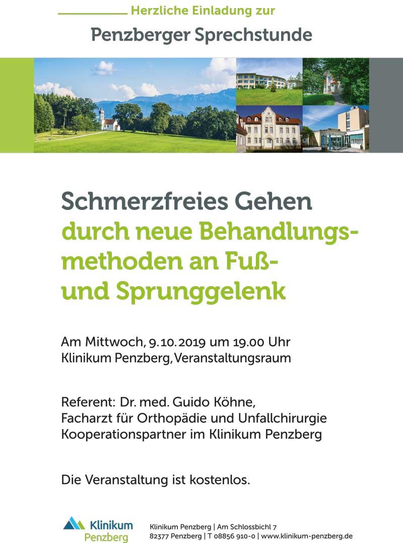 Sprechstunde Fußspezialist Dr. Köhne in Penzberg b. München